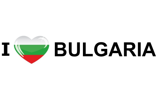 Bumper sticker I Love Bulgaria