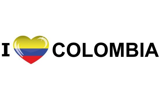 Bumper sticker I Love Colombia