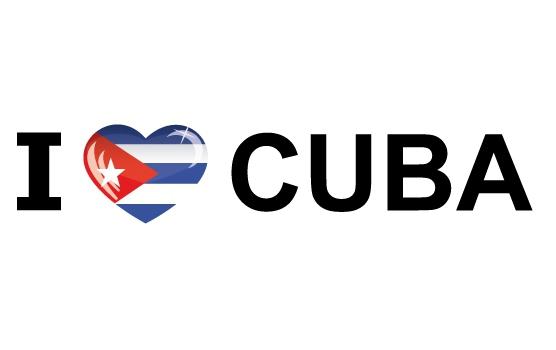 Bumper sticker I Love Cuba