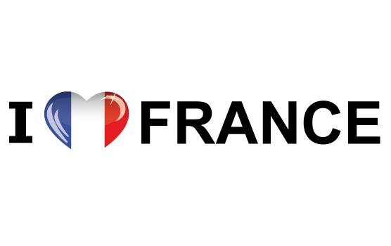 Bumper sticker I Love France