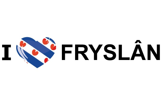 Bumper sticker I Love Fryslan