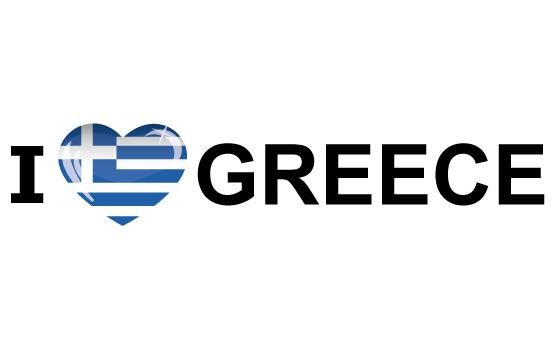 Bumper sticker I Love Greece
