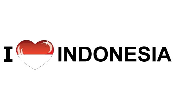 Bumper sticker I Love Indonesia
