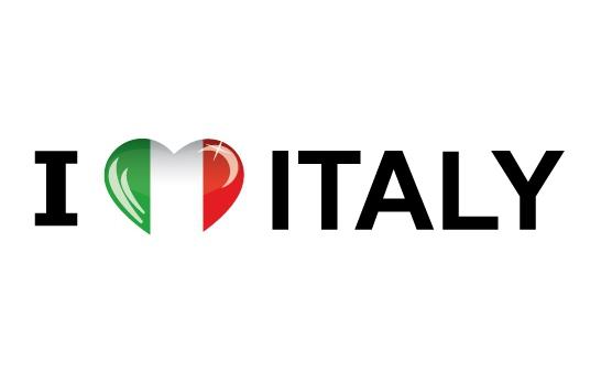 Bumper sticker I Love Italy