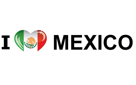 Bumper sticker I Love Mexico