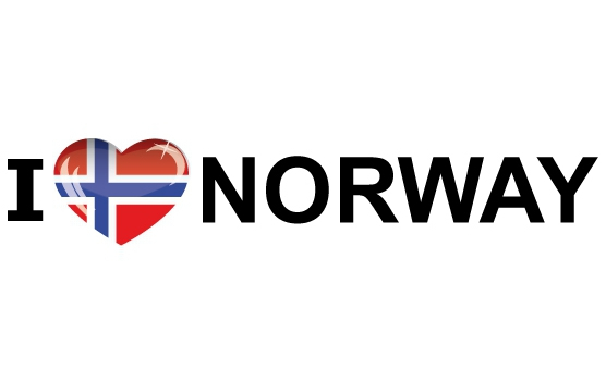 Bumper sticker I Love Norway
