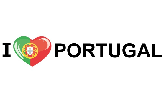 Bumper sticker I Love Portugal