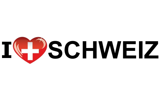 Bumper sticker I Love Schweiz