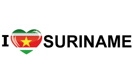 Bumper sticker I Love Suriname