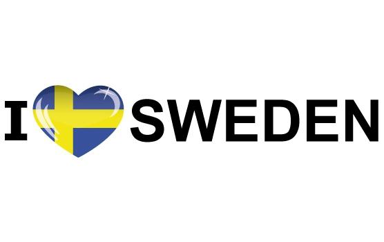 Bumper sticker I Love Sweden