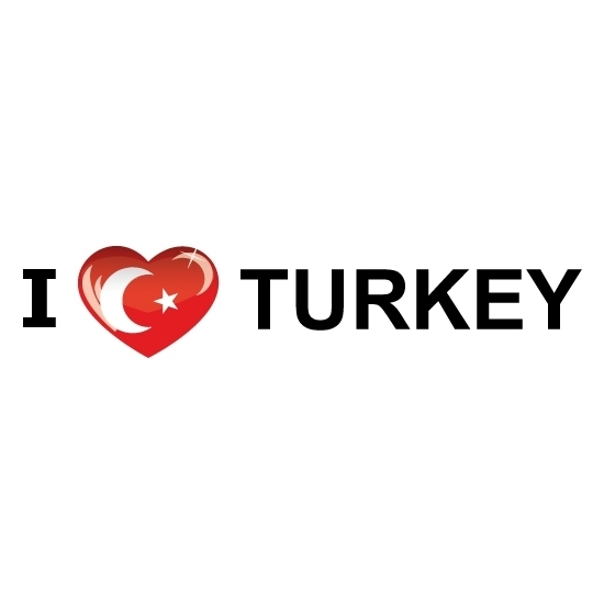 Bumper sticker I Love Turkije