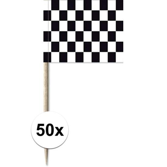 Bundel van 50 cocktailprikkers finish vlag
