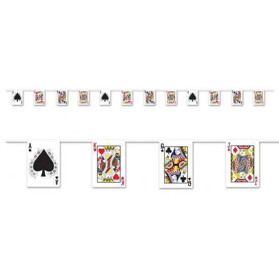 Casino slinger met speelkaarten