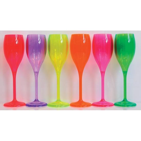 Champagne glas neon fuchsia