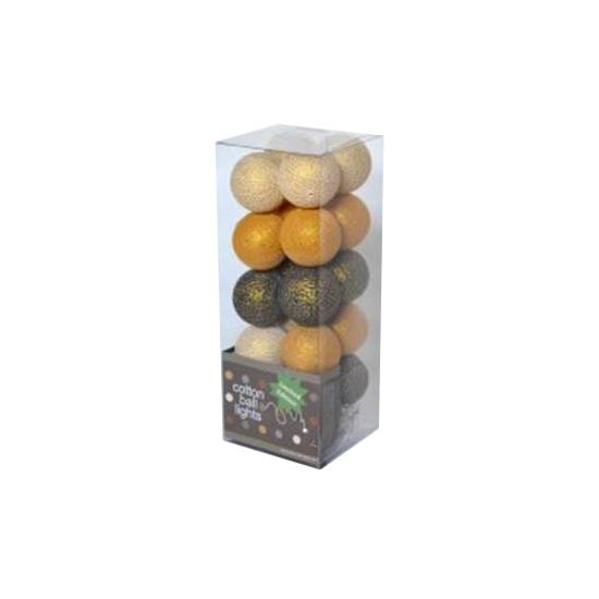 Cotton Balls lichtsnoer goudtinten 5.28 meter