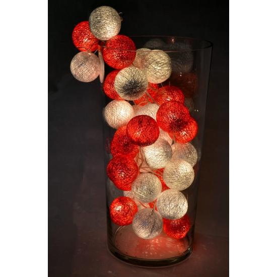 Cotton Balls lichtsnoer kerst kleuren 5.28 meter