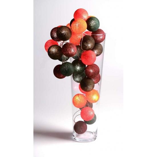 Cotton Balls lichtsnoer warme kleuren 5.28 meter
