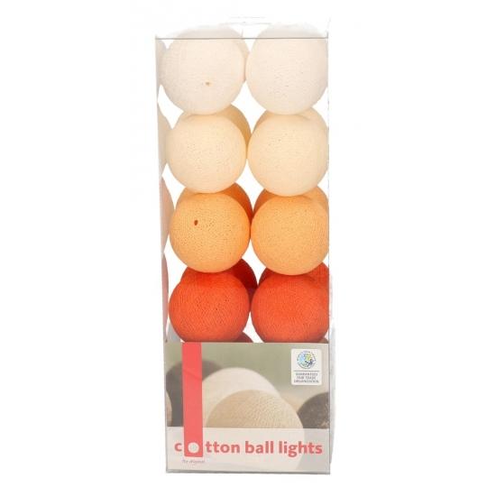 Cotton Balls oranje lichtsnoer 5 28 meter