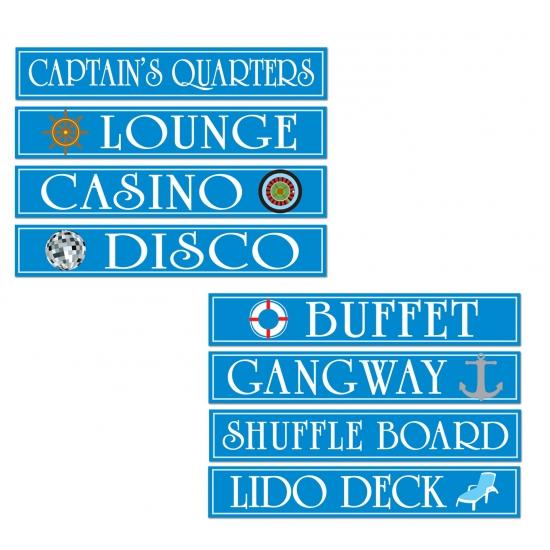 Cruise boot decoratie bord 4 stuks