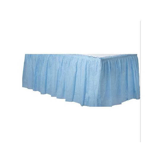Decoratie tafekleed rand lichtblauw