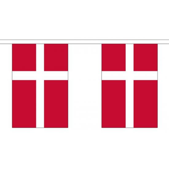 Deense vlaggenlijn van stof 3 m