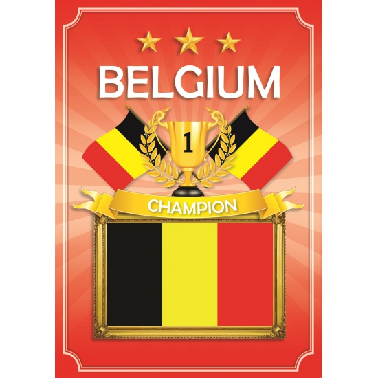 Deurposter Belgie rood