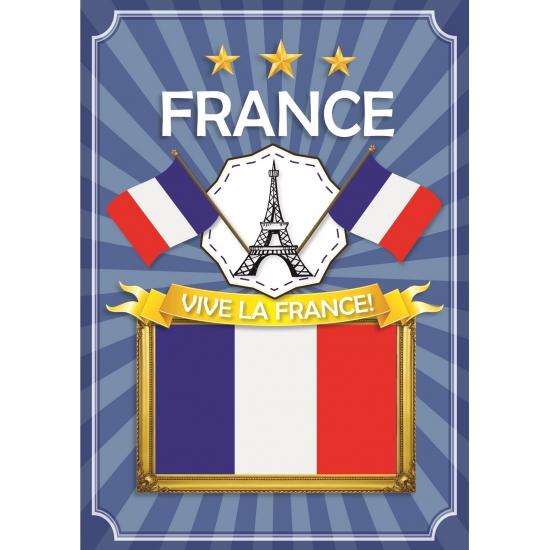 Deurposter Vive la France blauw