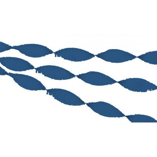 Donkerblauwe crepe papier slinger 30 meter