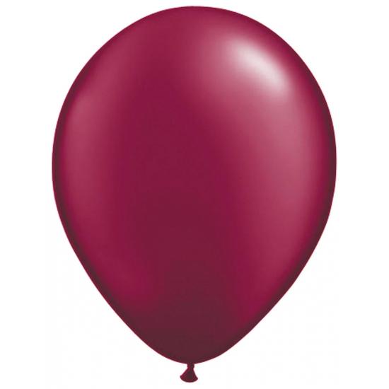 Donkerrode helium ballonnen 50 stuks