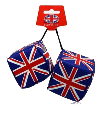 Engeland auto dobbelsteen