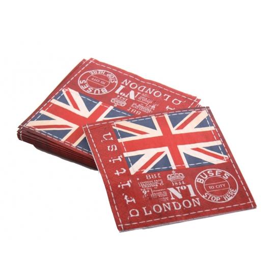 Engeland servetten 20 stuks 33 x 33 cm