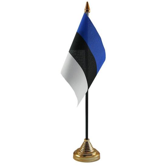 Estland vlag met standaard