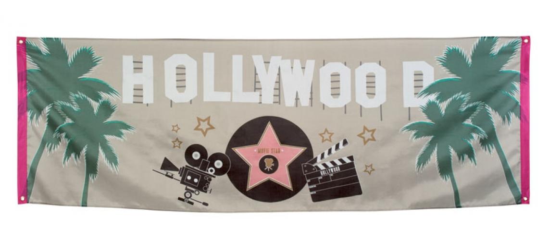 Feest banier Hollywood vlag 74 x 220 cm