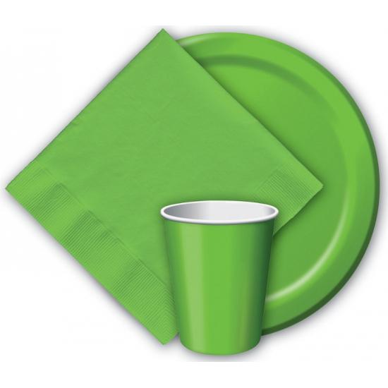 Feest borden groen 23 cm
