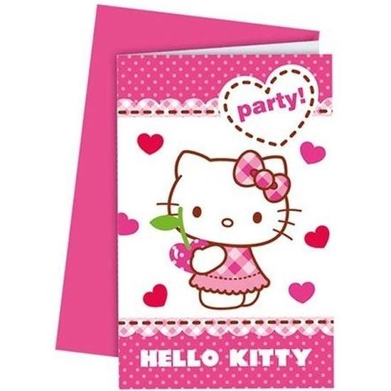 Feest kaarten Hello Kitty