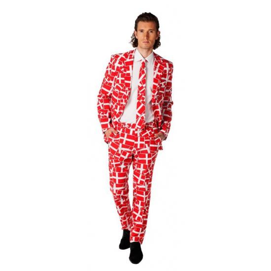 Feest kostuum Deense vlag print