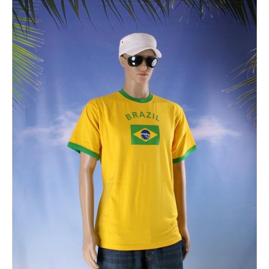 Feestartikelen geel Brazil shirt