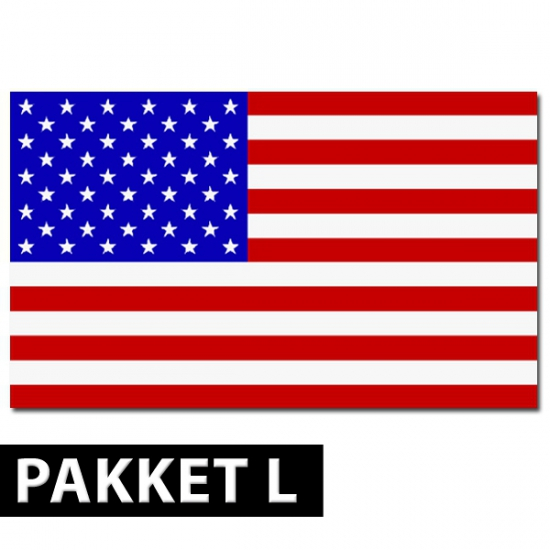 Feestpakket Amerikaans feest groot