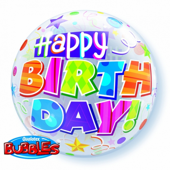 Folie ballon Happy Birthday 56 cm