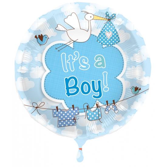 Folie ballon jongen geboren