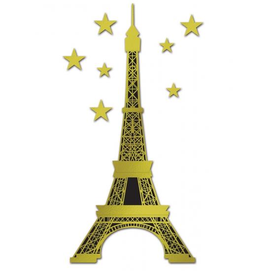 Folie poster gouden Eiffeltoren