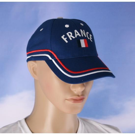 France pet blauw met vlag