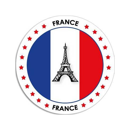 Frankrijk sticker rond 14,8 cm