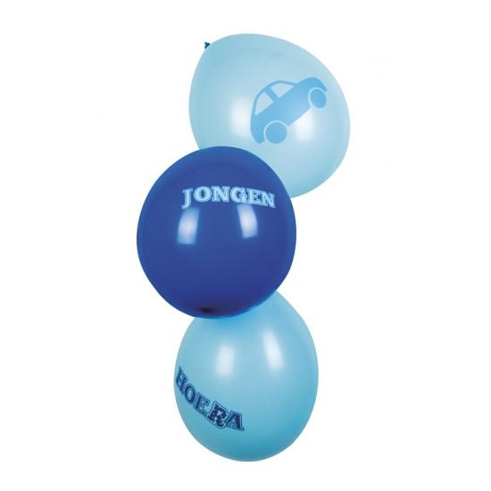 Geboorte ballonnen een jongen 6 stuks