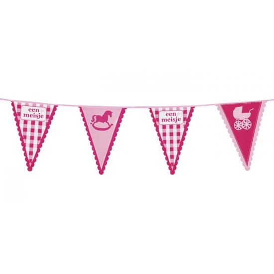 Geboorte vlaggenlijnen meisjes