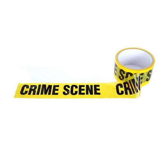Geel Crime Scene lint