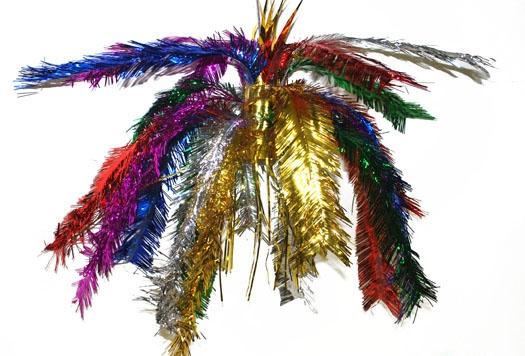 Gekleurde glitter decoratie 60 cm