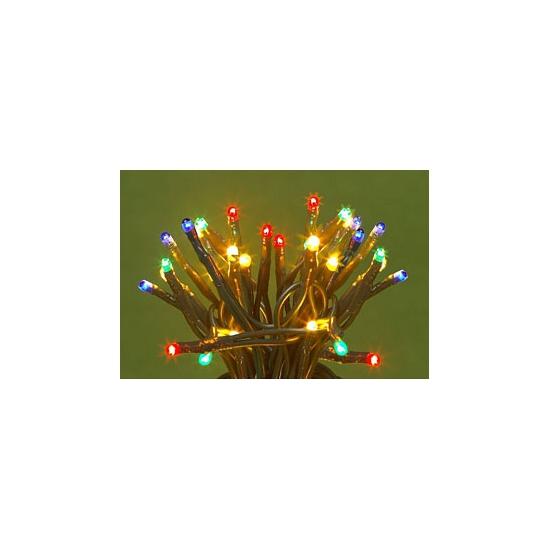 Gekleurde knipperende kerstlichtjes