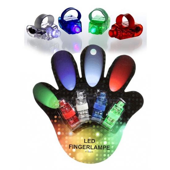 Gekleurde vinger lichtjes 4 stuks