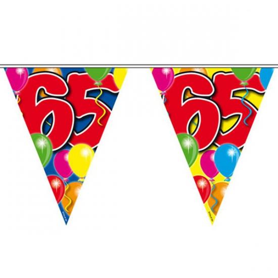 Gekleurde vlaggenlijn 65 jaar